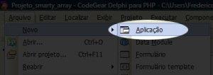 Criando Nova Aplicação no D4PHP